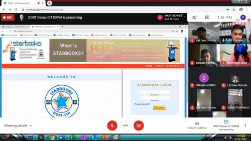 2020-06-24 DOST XI through DOST PSTC-Davao del Sur conducted the 1st Virtual Orientation and Training on the use of STARBOOKS